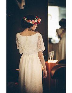 Robe de mariée rétro dentelle - 20 robes de mariée rétro pour avoir un look vintage le jour J - Elle