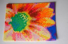 flower #2 perler bead art made by me - amanda wasend