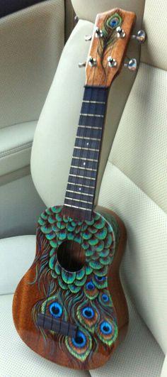 Ideas For Music Painting Guitar Instruments Arte Do Ukulele, Cool Ukulele, Ukulele Songs, Cool Guitar, Guitar Painting, Music Painting, Guitar Art, Music Guitar, Painted Ukulele