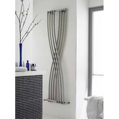 Buy Hudson Reed Xcite Designer Vertical Radiator H x W Gloss Silver today. Hudson Reed Part No: Free UK delivery in approx 4 working days. Tall Radiators, Bathroom Radiators, Vertical Radiators, Column Radiators, Modern Radiators, Radiator Valves, Radiator Cover, Bathroom Layout, Modern Bathroom