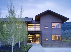 Mountain Modern House, Front Entry
