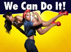 "KELLY ROWLAND's ALTER EGO: ""Rosie The Riveter vs. The Pinup ... Yes!"
