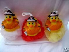 FIREFIGHTER Rubber Ducky Scrubbies.  The kids will love them! On sale now at:  www.FireandRescueStore.com  (Search: Rubber Duckies)