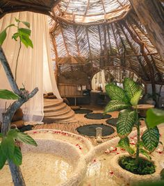 Staying in the main villa of AZULIK Tulum is living in a dream by the sea. Organic Architecture, Interior Architecture, Interior And Exterior, Future House, My House, Earthship Home, Earthship Design, Das Hotel, Dream Rooms