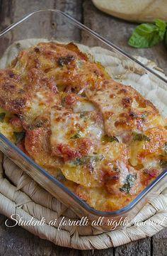 tortino di patate pomodoro tloutto al pomodoro e mozzarella ricetta secondo gustoso veloce