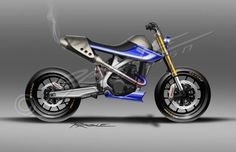 Yamaha Street Tracker design by Ragle design #motorcycles #streettracker #motos | caferacerpasion.com