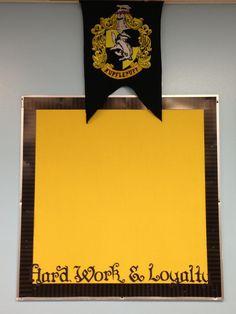 Hufflepuff bulletin board