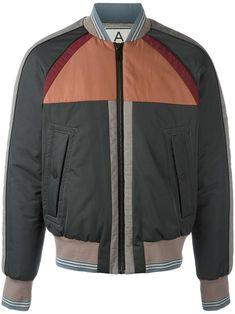 Andrea Pompilio striped detailing bomber jacket