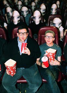 Nick Frost & Simon Pegg - Movie Madness. I <3 Paul