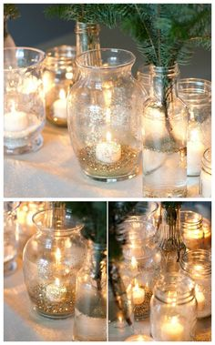 Sparkly candle holders for NYE