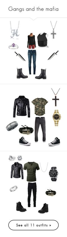"""""""Gangs and the mafia"""" by reaper18 ❤ liked on Polyvore featuring BERRICLE, Balmain, GUESS, Helmut Lang, Hollister Co., Converse, Steve Madden, Rolex, men's fashion and menswear"""