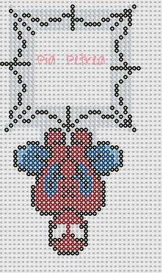 Spiderman light switch cover perler pattern by Pia Petrea