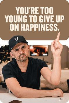 This is an inspirational quote from Gary Vaynerchuk, entrepreneur, motivational speaker, and early investor in Facebook, Twitter, and Uber. Pin for daily inspiration throughout your entrepreneurial journey. For more inspiration, quotes, and general business know-how, please check out garyvaynerchuk.com #garyvee #garyvaynerchuk #socialmediamarketing #digitalmarketing #smallbusiness #entrepreneurialmotivation #entrepreneurmotivation #inspiration #motivation #quotes #lifequotes #happiness Inspiration Quotes, Daily Inspiration, Happy Quotes, Life Quotes, Figured You Out, Trying To Be Happy, Gary Vaynerchuk, Gary Vee, Entrepreneur Motivation