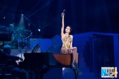 "Singer Karen Mok performs her first jazz album ""Somewhere I Belong"" at her 20th anniversary concert tour in Chongqing, China"