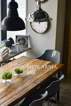 table, Industrial , lights, wood, ineriordesign Dining Table, Industrial, Rustic, Lights, Interior Design, Wood, Furniture, Home Decor, Country Primitive