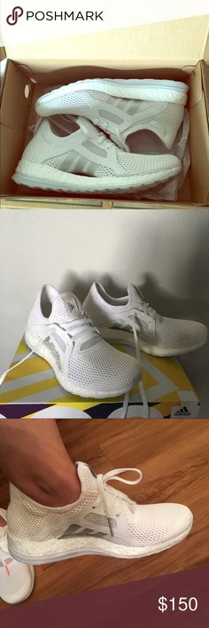 Adidas PureBOOST X white shoes size 8 Brand new in box adidas athletic shoes. Very comfort and stylish! Adidas Shoes Athletic Shoes