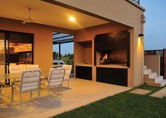 Marcela Parrado Arquitectura - Casa estilo Actual - Arquitecta - PortaldeArquitectos.com My Home Design, House Design, Casa Patio, Casas Containers, Patio Kitchen, Weekend House, 230, Pergola, Modern House Plans