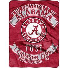 The Northwest Company Alabama Crimson Tide Rebel Raschel Throw Blanket