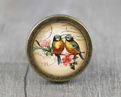 kan tailor made obv foto! Bird  Handmade Vintage Bronze Dresser knobs cabinet  door jade4wood
