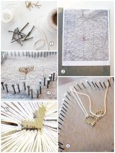 nail  string art tutorial! - Because we love Oregon lol