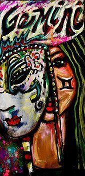 Gemini Painting by Kimberly Dawn Clayton Zodiac Signs Astrology, Zodiac Art, Gemini Zodiac, Horoscope, Gemini Pictures, Gemini Wallpaper, Skull Wallpaper, Gemini Art, Gemini Sign