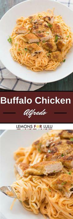 Chicken fettuccine alfredo like you've never tasted! Pasta noodles are coated…