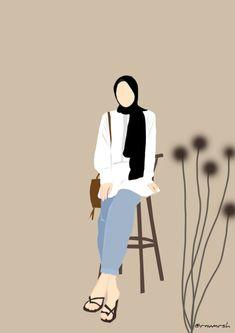 Picture Instagram, Instagram Dp, Girl Cartoon, Cartoon Art, Indie Photography, Hijab Drawing, Islamic Cartoon, Anime Muslim, Hijab Cartoon