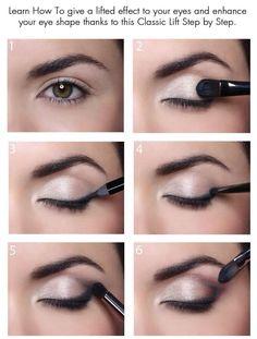 Eye lifting makeup