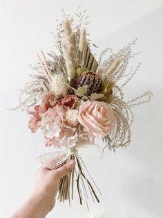 Do It Yourself Fake Flower Arrangement Kit Set DIY Flower Kit 6 Pieces Artificial Flowers Roses Arrangement Set Premium Quality /…