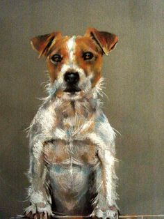 Paula Vize Canine Artist at Stockbridge Gallery Dogs in Art Parsons Jack Russell Terrier Puppy Dog Dogs Puppies
