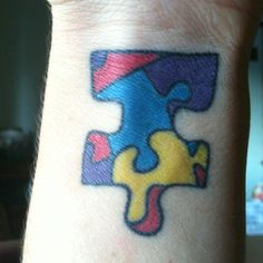 """Autism puzzle piece tattoo"" -this is how mine is going to look when I get the courage to do it"