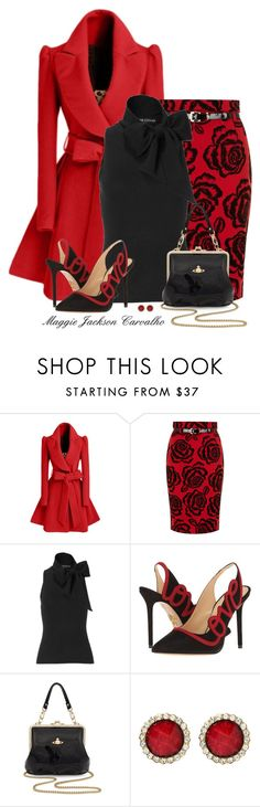 """""""Valentine's Day!"""" by maggie-jackson-carvalho ❤ liked on Polyvore featuring WithChic, Dorothy Perkins, Ralph Lauren, Charlotte Olympia, Vivienne Westwood and Amrita Singh"""