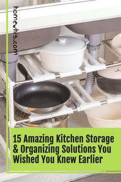 Cluttered kitchen? Running low on storage space? Then, here are 15+ small kitchen organization ideas that help you clear out the clutter and bring everything back in order again! From under the sink organization to countertop organizations ideas, you'll find the best way to utilize storage space, label and group your items together for a neat and organized kitchen! Visit the post now! #homewhis #kitchenorganization #undersinkorganization #declutter #cabinetorganization #fridgeorganization Kitchen Countertop Organization, Under Sink Organization, Sink Organizer, Spice Organization, Kitchen Countertops, Kitchen Storage, Magnetic Spice Jars, Fridge Shelves, Kitchen Trash Cans