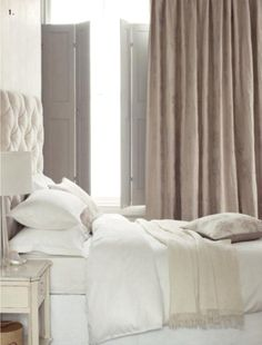 tone on tone bedding and drapes
