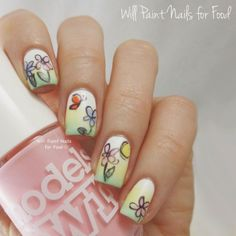Springtime Florals So Adorable They Defy Categorization!!!by Will Paint Nails for Food