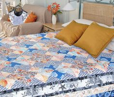 Seascape by Ebony Love (from Quilt Trends Magazine Summer 2014 issue, on sale now)  www.quilttrendsmag.com