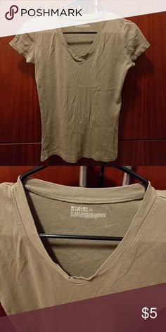 Mossimo beige taupe short sleeve 100%cotton small short sleev Mossimo Supply Co. Tops