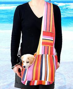 Small Oxford Cloth Sling Tote Pet Dog Puppy Carrier Bag Single Shoulder Pouch - #icant