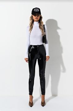 82d8e5c98e3 AKIRA Long Sleeve Ribbed Knit Turtleneck Snap Fastening Bodysuit in Nude,  Black
