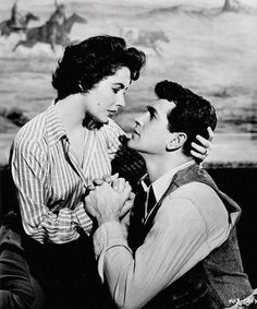 Elizabeth Taylor and Rock Hudson