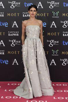 Nerea Barros wearing Oscar de la Renta
