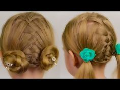 STYLISH BUN HAIRSTYLE. Quick and Easy Hairstyle #33 - YouTube