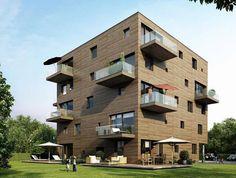 Výsledek obrázku pro wooden apartment building