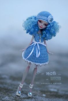 OOAK Monster High Repaint Ghoulia with dress shoes by AtelierRetro, $143.00