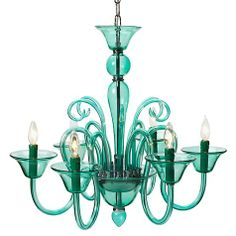 Calais Chandelier - Aquamarine | Hanging Lamps | Lighting | Decor | Z Gallerie