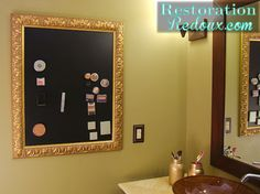 magnetic makeup board, crafts, repurposing upcycling