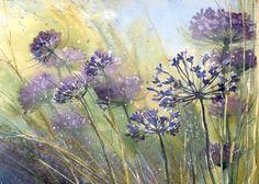 Summer and violet (watercolor) by nibybiel
