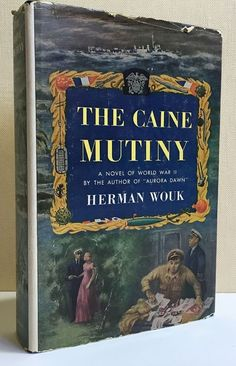 Vintage 1951 The Caine Mutiny : A Novel of World War II by Herman Wouk Book Club Edition Hardcover w Jacket Naval Battles American Navy Wars