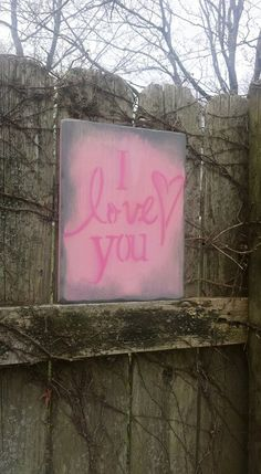 Grungy Primitive I LOVE YOU Pink Heart by UniquePrimtiques on Etsy