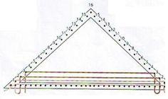 MATERIALES Bastidor triangular de 1,30 m de base x 60 cm de alto Flamé acrílico matizado en tonos marrón chocolate, beige y azul: 340 g ...